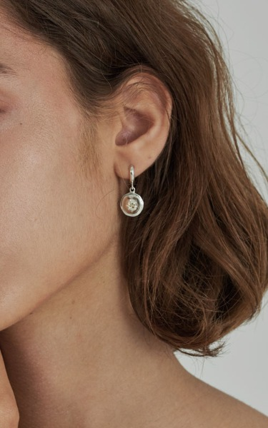 Ball hoop earring